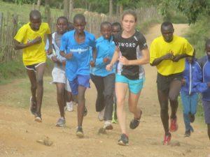 Tarah leads a training camp